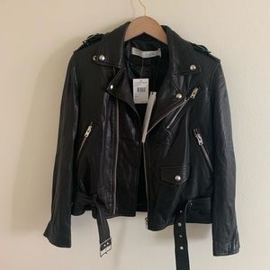IRO womens black leather jacket